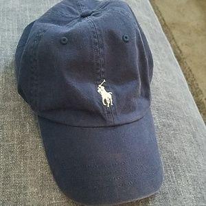 Navy Blue Polo Ralph Lauren Men's Baseball Cap